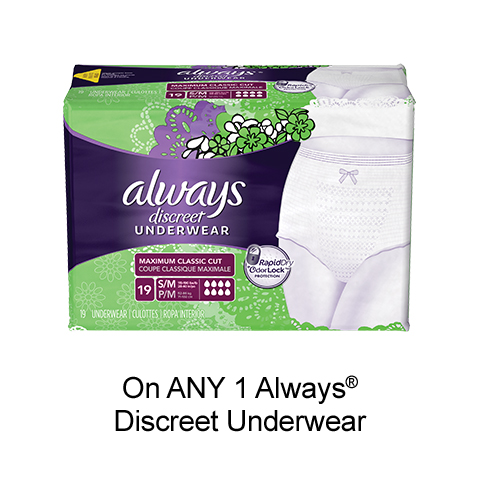 Get New Always Discreet Coupon To Print For $3