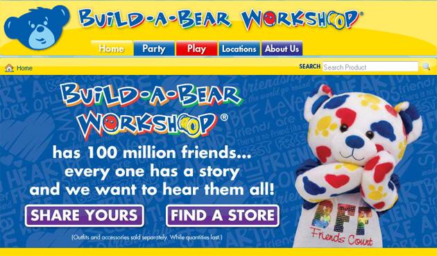 Build A Bear Workshop Online