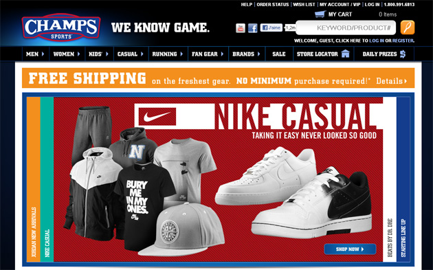 Champs Sports Online Store