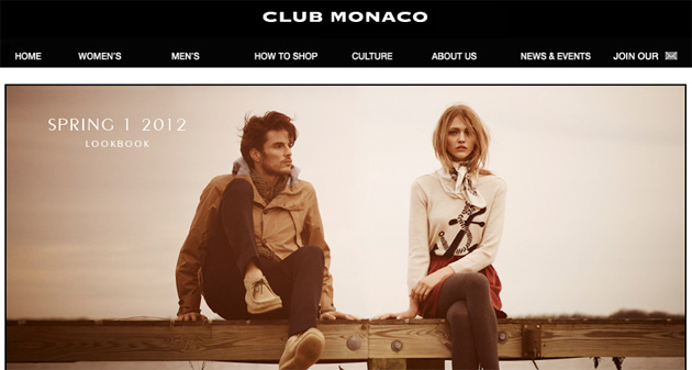 Club Monaco Online Store Flyer