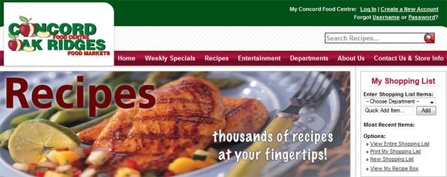 Concord Food Centre Online