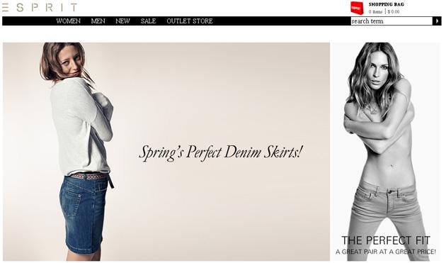 Esprit Online Store Flyer