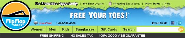 Flip Flop Shops Online Store