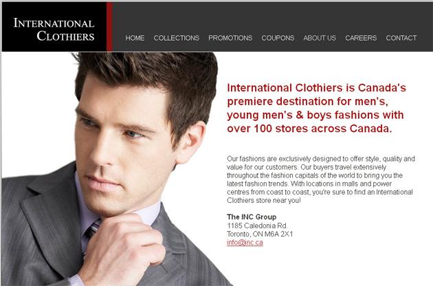 International Clothiers Online Store