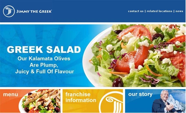 Jimmy The Greek Restaurant Online