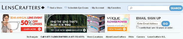 image regarding Lenscrafters Printable Coupons identified as LensCrafters Flyer - Canada Absolutely free Discount codes
