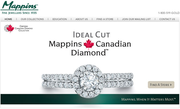 Mappins Fine Jewellers Online Store