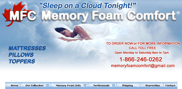 Mfc Memory Foam Mattress Online Flyer