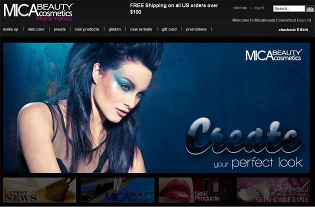 Mica Beauty Cosmetics Online Store