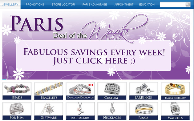 Paris Jewellers Online Store