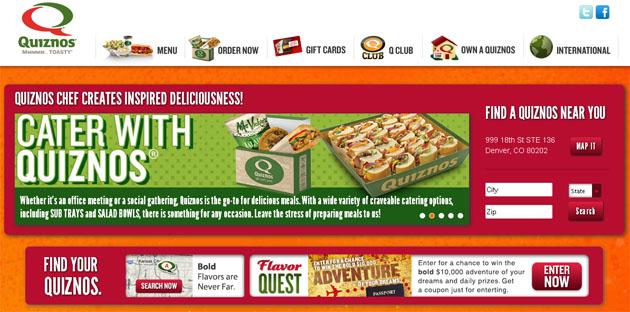 Quiznos Online Restaurant