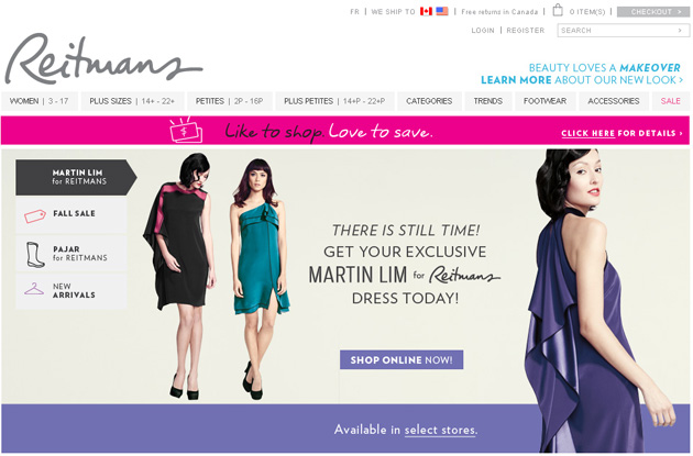Reitmans Womenwear Online Store