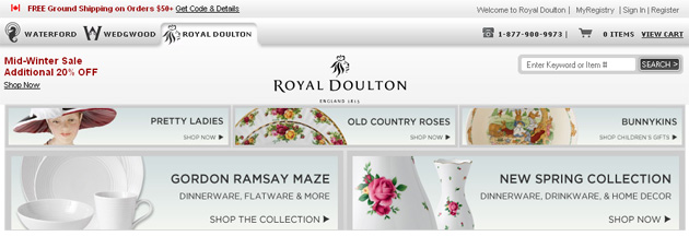 Royal Doulton Canada Online Store