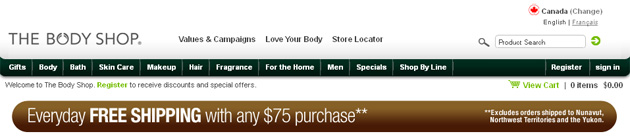 The Body Shop Online Store